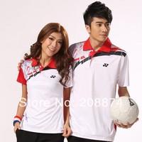 Wholesale New arrival Badminton clothing for men women sport short sleeve yellow red purple YY T-shirt