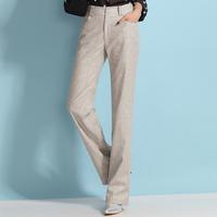 new 2014 spring highwaisted linen pants for women Upscale  plus size clothing xxl  xxxl women linen