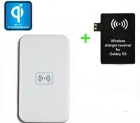 Qi Wireless Induction sin hilos Charging Pad  + Qi  Receiver receptor del cargador for Samsung Galaxy S3  i9300