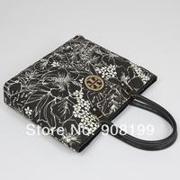 T*B  formal women's canvas flower  handbag shoulder bag handbag