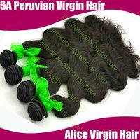 4 Pcs/lot mix size Hair Weave Peruvian Virgin Hair Extensions 100% Unprocessed Human Bodywave Natural Hair DHL Free Shipping