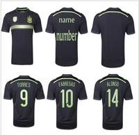 New 2014 World Cup Spain espana away team soccer football jerseys t shirt sportswear equipment camisetas de futbol camisa