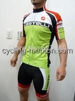 2014 CASTELLI VELO Green Cycling Jersey /bib Shorts /Cycling Kits/wear Summer Cycling Clothing Ciclismo Maillot  Size