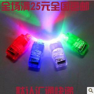 Flash led finger lights finger light neon stick ring light led finger light toy(China (Mainland))