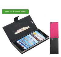 Free shipping Doormoon Flip Genuine leather case for Lenovo K900 mobile phone case for lenovo k900 protective case