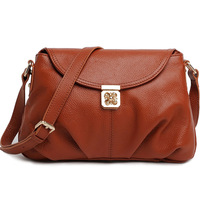 2014 women's genuine leather handbag women's small messenger bags women's one shoulder causal leather bag