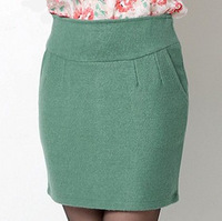 2014 Spring Winter New Brand 11 Colors Fashion Woolen Women's Business Suit Mini Skirt Summer Vocational OL Skirts R1503