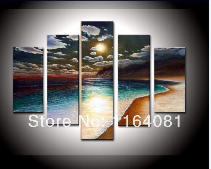 Online get cheap beach decor alibaba group for Beach wall mural cheap