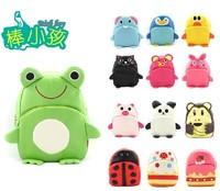 Free shipping 15 model 2014 Cartoon animals Children's school bags baby leather pu backpack kindergarten bag