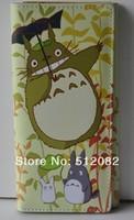 My Neighbor Totoro Tonari Chinchilla PU Long Wallet Purse Cartoon Anime Gift Cosplay  Light Brown  Free Shipping Wholesale