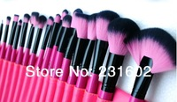 High qaulity Brand MSQ cosmetic Persian wool 24 red makeup brush set