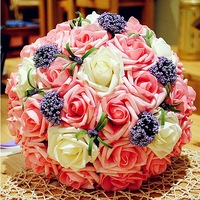 Free Shipping Simulation Hand Bouquet With The Korean Bride Wedding Wedding Bouquet Wedding Decoration  Wedding Flowers