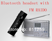 High quality Bluetooth earphone headset with FM MP3 SD  for cell phone,tablet , laptop +free shipping