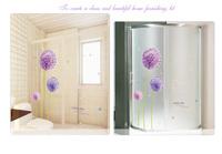 Free Shipping Purple Dandelion living room TV backdrop bedroom wall stickers environmental