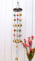 free shipping Double 19 pure brass bell japanese style metal wind chimes copper rustic door hangings at home decoration