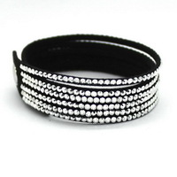 New Fashion 6 Layer Silver Color Leather Bracelet  Vintage Leather Braided Bracelet Pure Handmade,Charm Jewelry