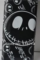Tim Burton's The Nightmare before Christmas  Black  Skull PU Long Wallet Purse Animation Gift Cosplay Movie Free ShipWholesale