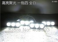 Red blue white  3LED*4 strobe flash light wireless remote control Daytime Running Light DRL Bumper Lamp Car Lamp waterproof