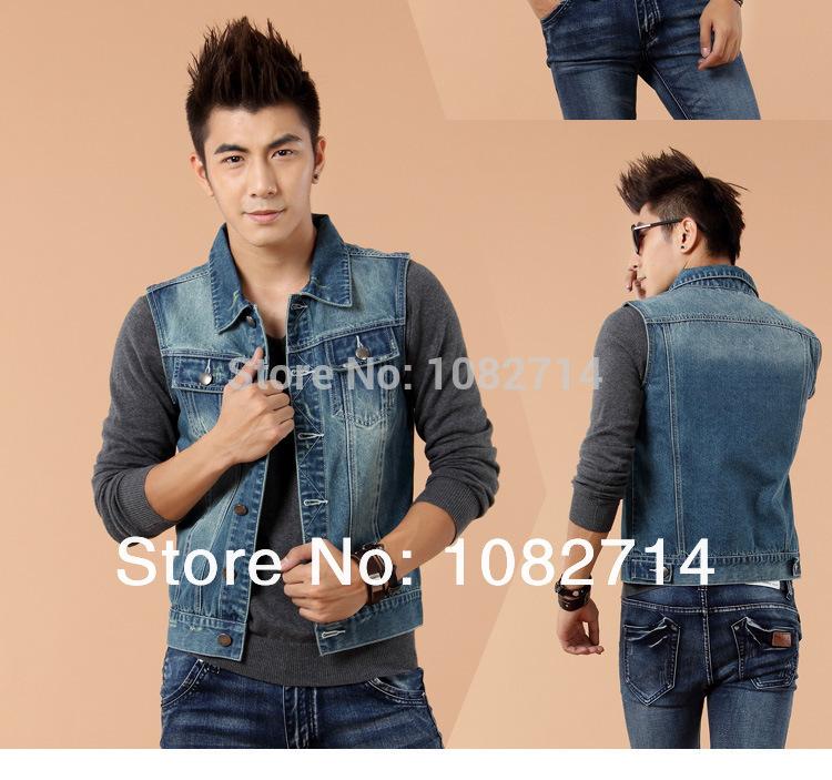 Vest and jeans men