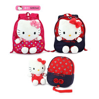 Super cute 1pc 27cm baby backpack sweet hello kitty doll outdoor school shoulder lost bag children kindergarten lovely toy gift