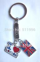 2014 new London souvenirs key chain UK key ring I LOVE LONDON key chains KR008 free shipping !