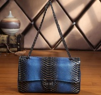 2014 New Elegant Chian Bag High Quality Genuine Cowhide Leather Metalic Snake Embossed Shoulder bag