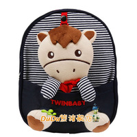Super cute 1pc 26cm baby backpacks TWINKIDS Little Rocking Horse outdoor school shoulder lost bag children kindergarten toy gift