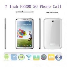P8800 7 inch 2G phone call  tablet pc MTK6572A Dual CoreAndroid 4.2.2 Dual SIM sim card dual camera GPS leather cas freeshipping