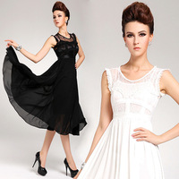 Free Shipping new spring 2014  bohemia full twinset  lace chiffon one-piece beach  evening dress  QZ045