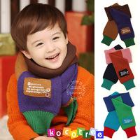 Шарф для мальчиков Fashion stripe children's scarf girl scarves baby clothing kids winter warm neckerchief with gold button 12076