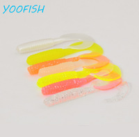 50/batch 2.4g 7cm free shipping fishing lure sea fishing tackle soft bait fish worm jig carp wobbler swivel lure soft plastic