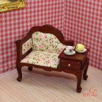 MINI CLUB-FREE SHIPPING- Doll house furniture model 12 bjd coffee sofa belt drawer 22081