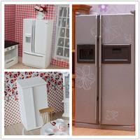 MINI CLUB-FREE SHIPPING- Doll house mini furniture model quality double door refrigerator 22118