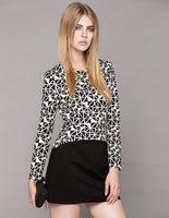 2014 spring fashion women's geometry patchwork color block slim basic skirt one-piece dress basic skirt  free shipping
