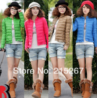 spring autumn and winter plus size clothing thin slim short design female down coat outerwear wadded jacket outerwear
