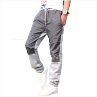 Spring plus size male casual pants slim cotton sports pants plus health long trousers 2014 Free Shipping