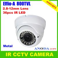 Sony Effio-A 800TVL OSD Menu 3DNR 2.8-12mm Manual Zoom Lens Metal Cover Outdoor Using Dome CCTV Camera