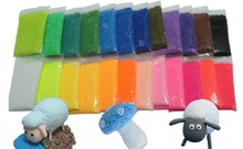 24 Colors Safe Pearl Clay DIY Magic Clay Ultralight Multi-Colored Clay Mud Children Promotional Gifts 1000pcs/lot Free Shipping(China (Mainland))