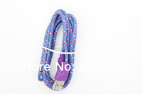 100pcs/lot 1M 3ft Support ios7.1 For Iphone 5 5s Nylon Fabric Braided Cable for iPhone 5s USB Data Sync cable & Charging