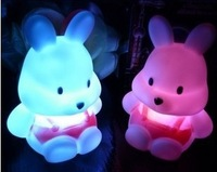 The new energy-saving ideas 5V1W button switch PVC radish rabbit Colorful Night Light