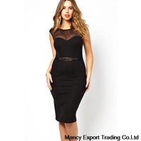 free shipping 2014 summer women sexy dress for ladies sleeveless fat woman fashion dress XXL black dress GQ041