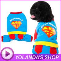 2014 Hot Fashion Dog Clothes SUPER MONEY 2 Jumpsuit Wholesale And Retail Pet Puppy Cat Warm Coat Apparel