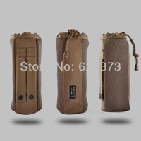 Khaki TAN Molle Canteen Water Bottle Pouch Cover  Military Army Tactical 25*10cm