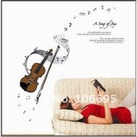 free shipping  cello 3D wall sticker music Fashion home large removable wall stickers wall decor