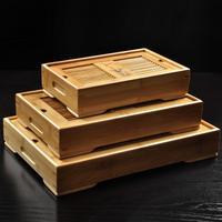 kung fu tea tray, water storage, drawer type, drainage, bamboo tea tray, Middle size 34.5*22.5*6.5cm, tea set~