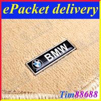 2 PCS Floor Mat Carpet Aluminum Alloy Metal Emblem Badge For BMW Free ePacket Shipping