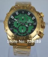 2014 New Brand Festina F16599 Tour de France Bike Quartz Chronograph Green Dial Gold Stainless Steel Bracelet Men's Watch