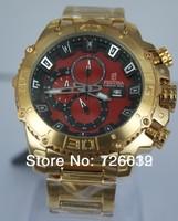 2014 New Brand Festina F16599 Tour de France Bike Quartz Chronograph Red Dial Gold Stainless Steel Bracelet Men's Watch