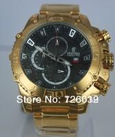 2014 New Brand Festina F16599 Tour de France Bike Quartz Chronograph Gold Stainless Steel Bracelet Men's Watch