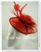 Free shipping 3 color sinamay hats/fascinator hair accessories /cocktail hats/party hats 3Pcs/lot  MSF288